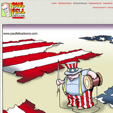 PaulFellCartoons.com - The website of political cartoonist Paul Fell, Shawn designed it & has managed or helped manage it since 2000.
